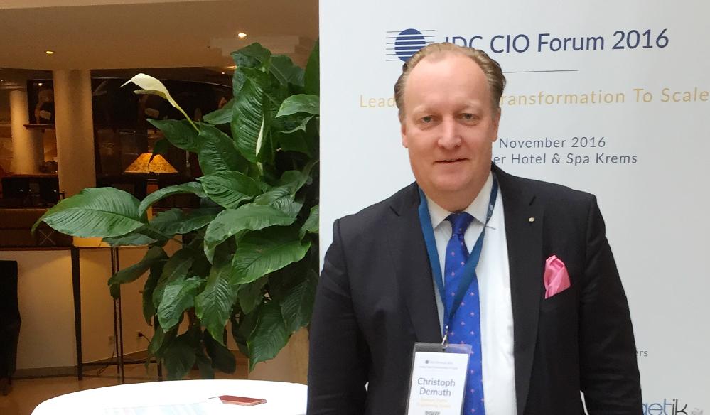 Dr. Christoph Demuth IDC CIO Forum Austria 2016