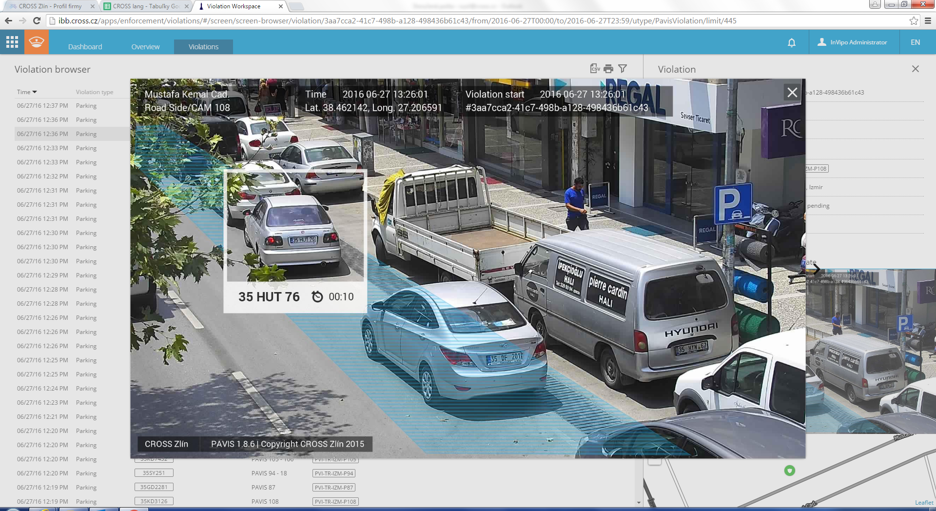Screenshot of InVipo Traffic Management Platform